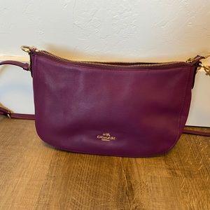 Beautiful purple leather Coach purse. EUC